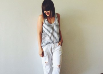 White ripped jeans pretty chuffed blogger