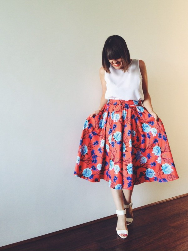 Pretty Chuffed - Floral Full Midi Skirt With Pockets| What I'm ...