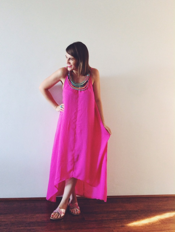 St frock pink maxi