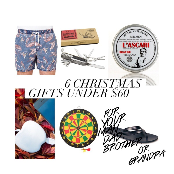 Gift ideas for men under $60
