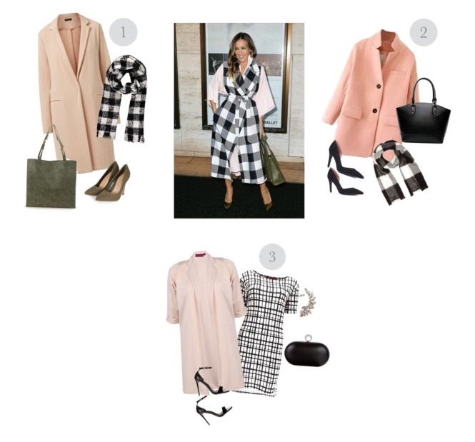 Sarah Jessica Parkers pastel coat and scarf