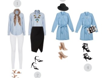 Ways to wear chambray
