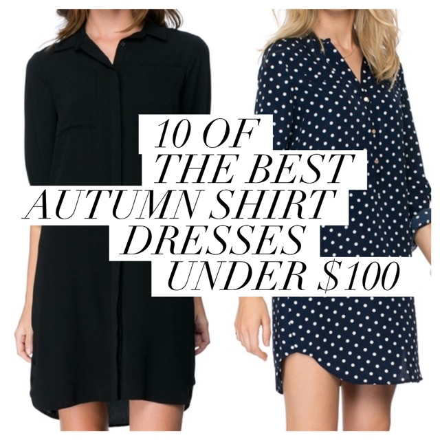 Autumn shirt dresses
