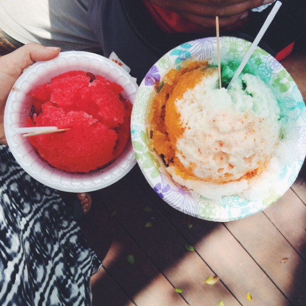 Shave ice from Haleiwa's Matsumoto's