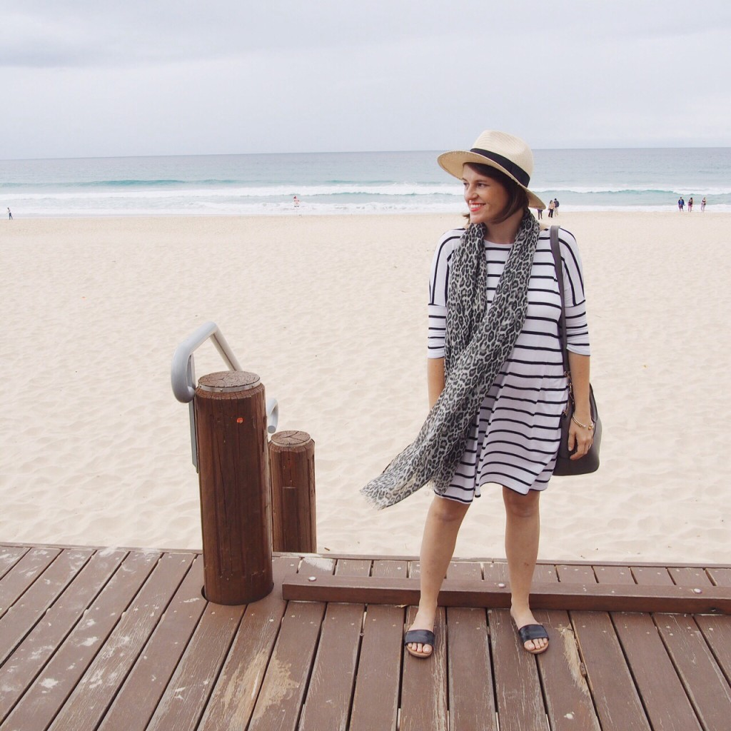St frock striped dress outfit