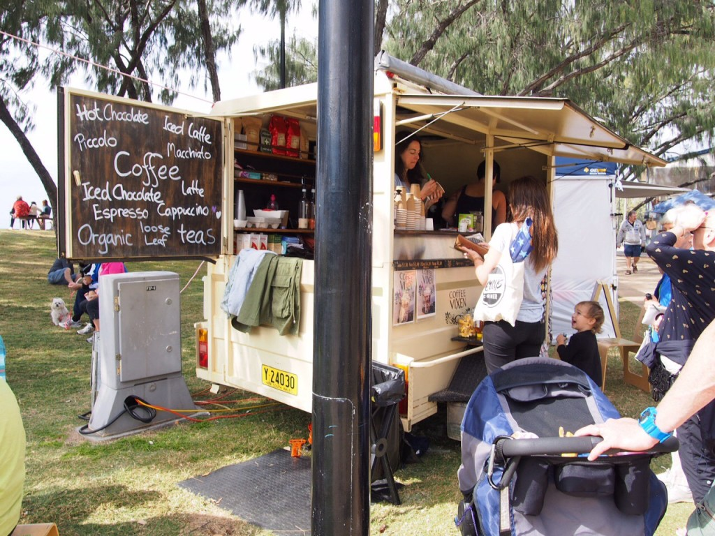 Cute  coffee cart at the arts and crafts markets (first and third Sunday of each month at Broadbeach).