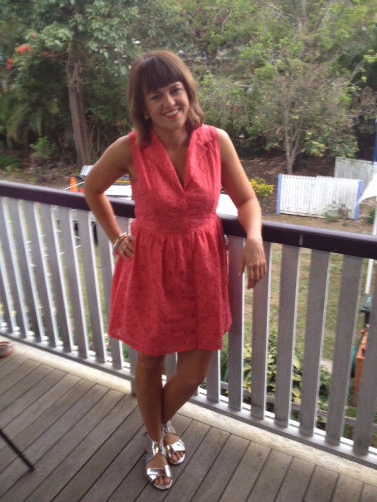 2012 - day after a friends' wedding - complete with epic spray tan and post-curled hair!