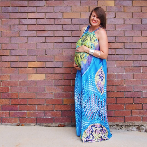 St frock maxi dress tropical