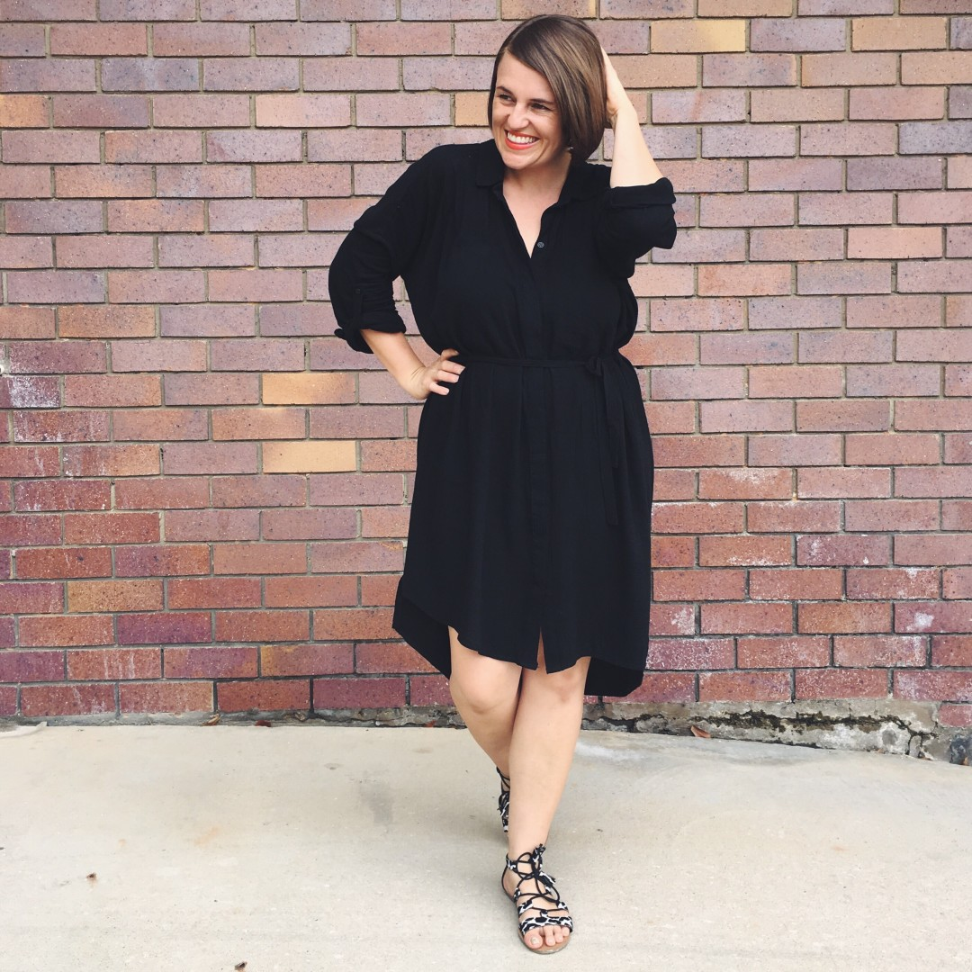 Why You Need a Little Black Shirt Dress | What I'm Wearing