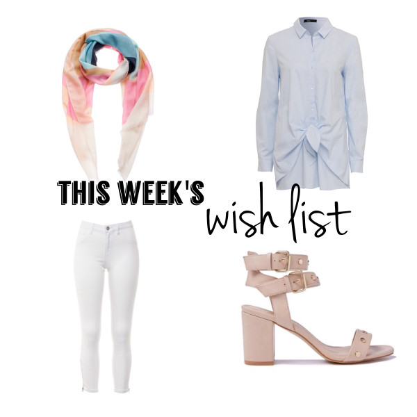 White Jeans and Pastel | This Week's Late Night Shopping (Wish) List