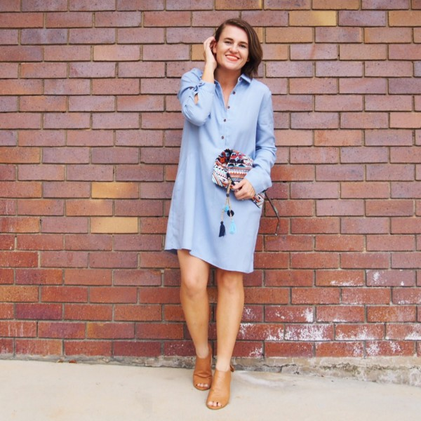 blue shirt dress the hidden boutique outfit