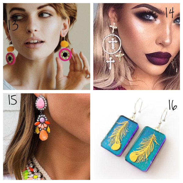 statement earrings colourful earrings australian blogger