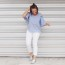 The $15 Striped Cold Shoulder Top | What I'm Wearing