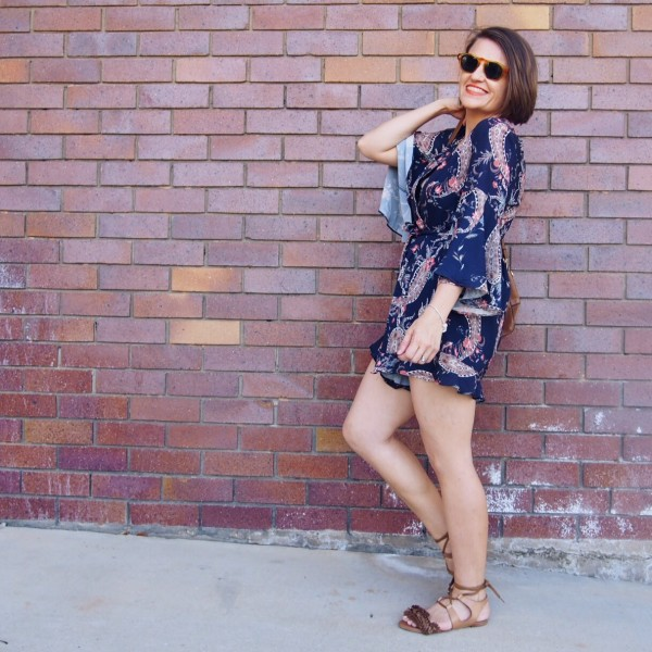 playsuit blogger outfit how to wear a playsuit