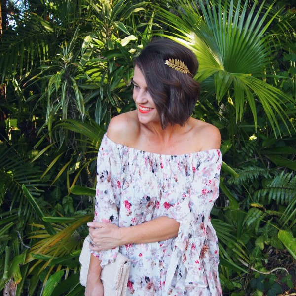 boho off the shoulder dress blogger spring racing trends 2016