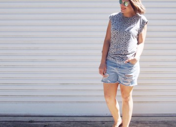 kokhko clothing leopard t-shirt blogger outfit