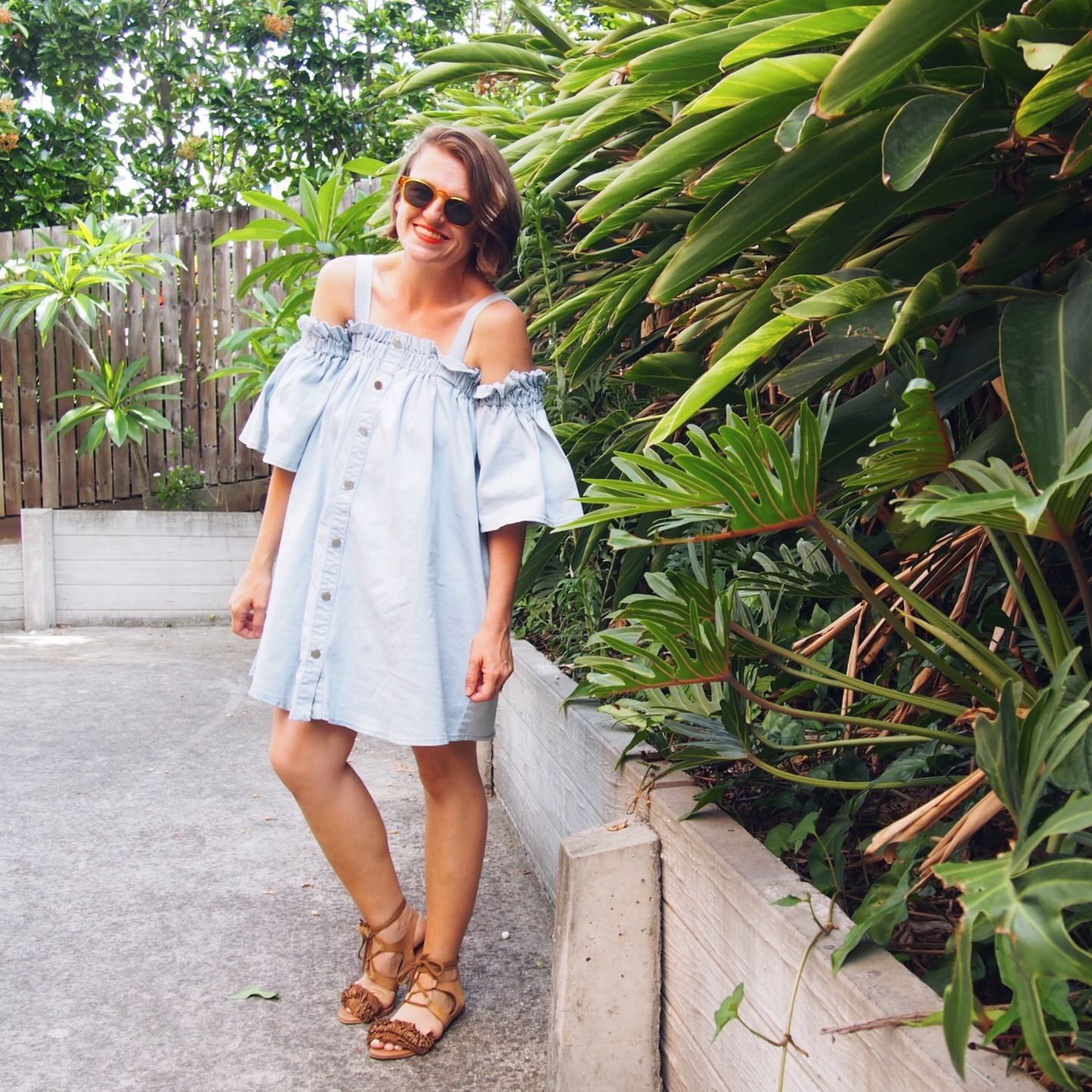shein denim dress