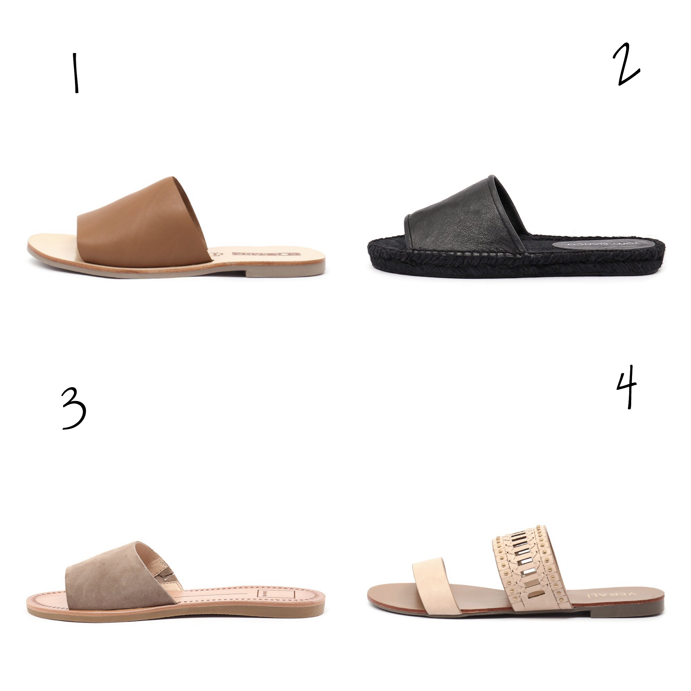 slides under 100 leather sandals