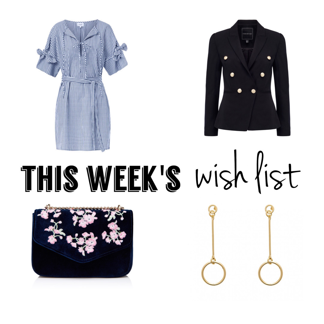 wish list embroidered clutch forever new blazer