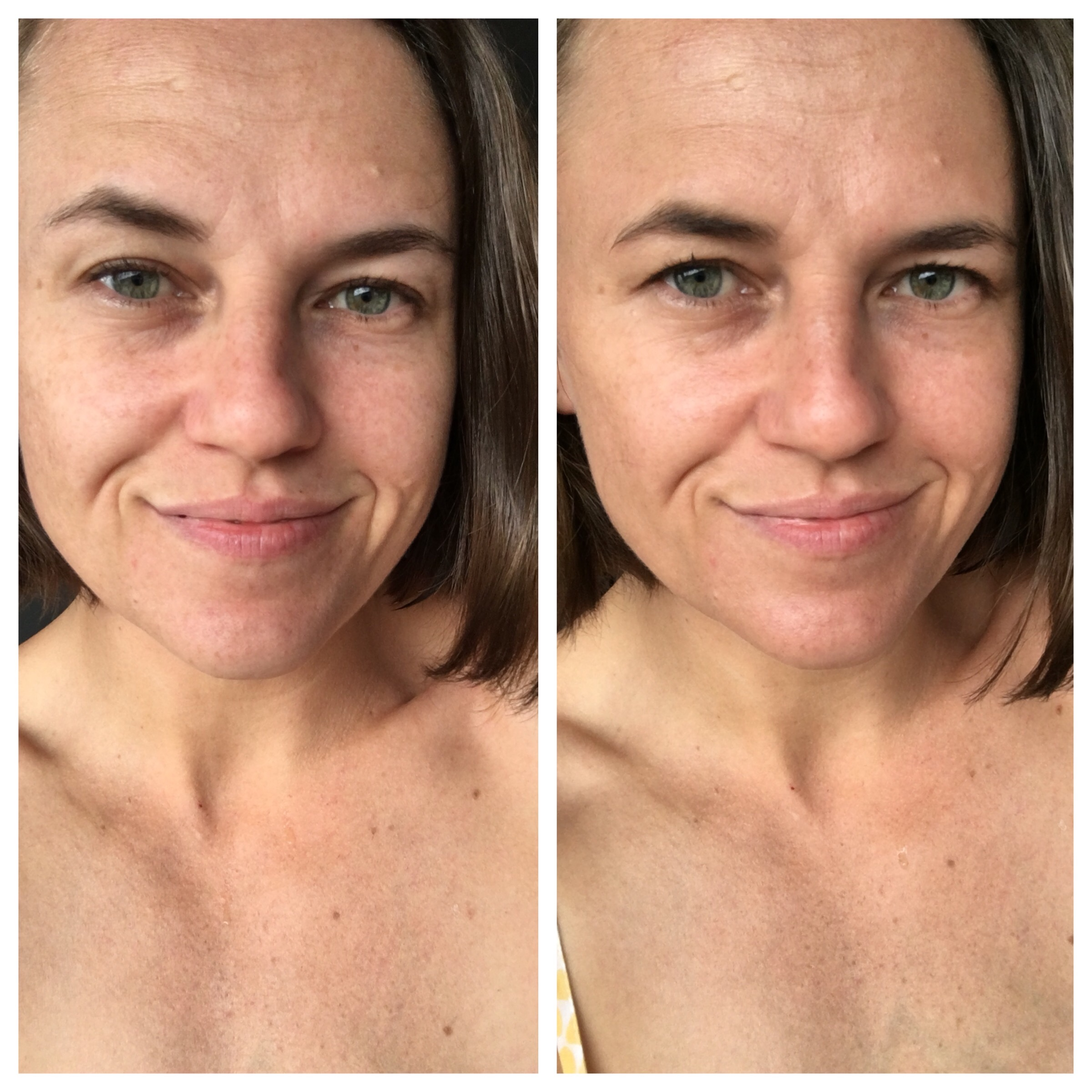 Olay Total Effects BB Cream before and after