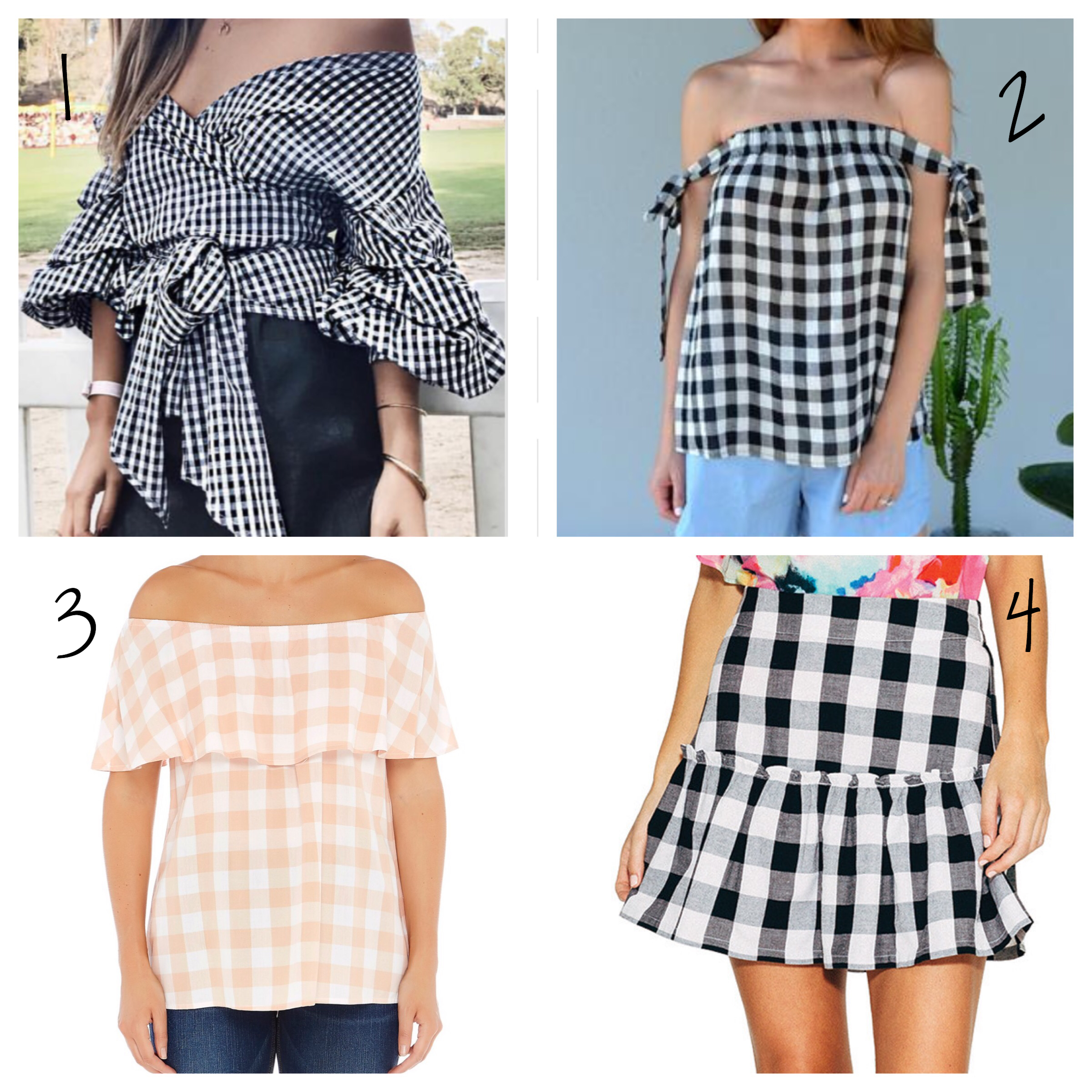gingham outfit updates under 100