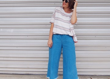 denim culottes outfit how to wear pretty chuffed