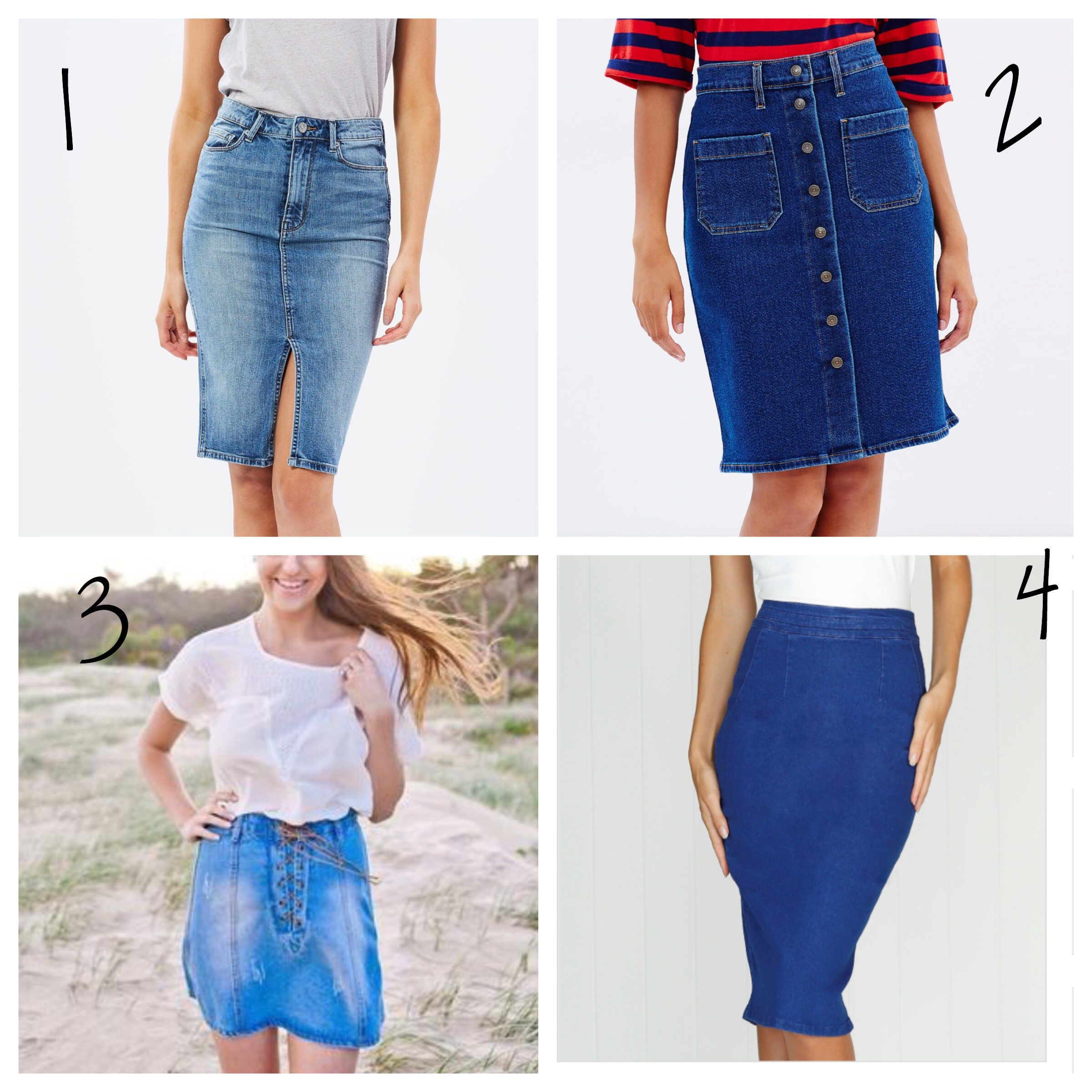 denim skirts under $100