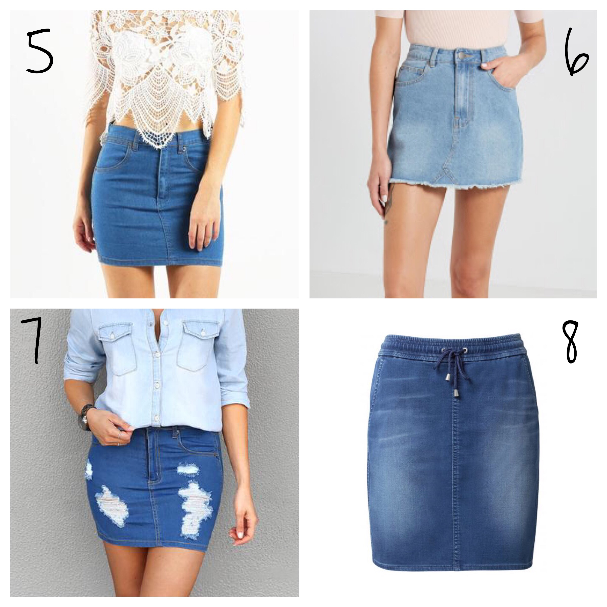 denim skirts new season 2017