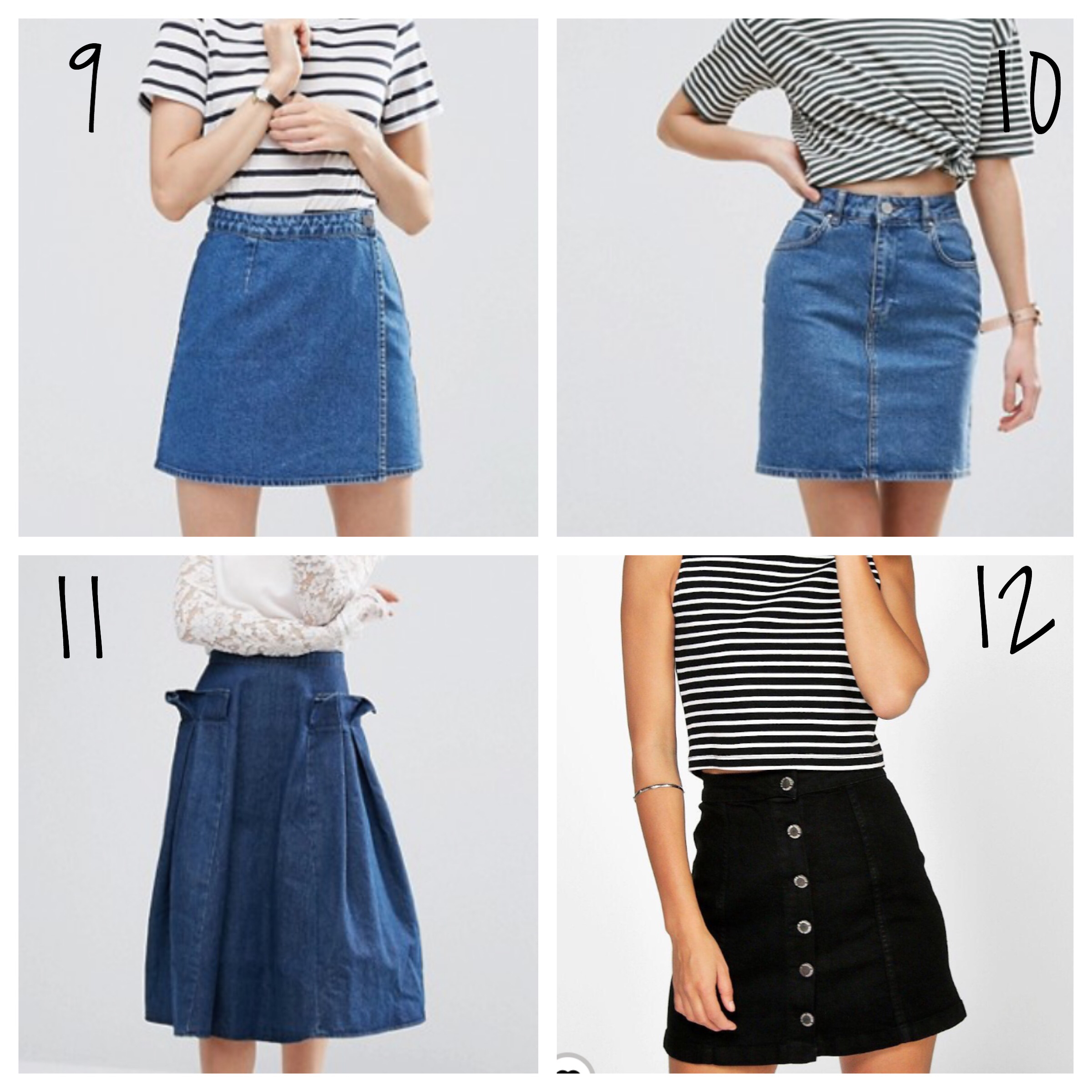 new season denim skirts 2017 how to wear