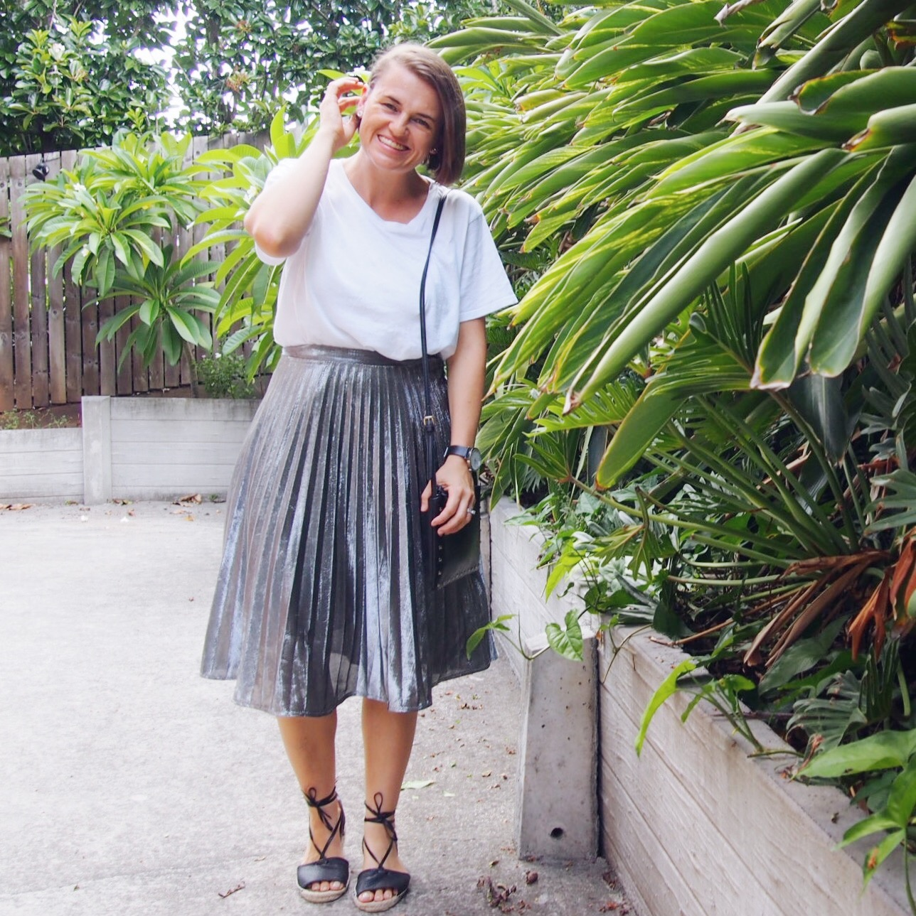 4fb844f12 How To Wear A Pleated Skirt | What I'm Wearing - Pretty Chuffed