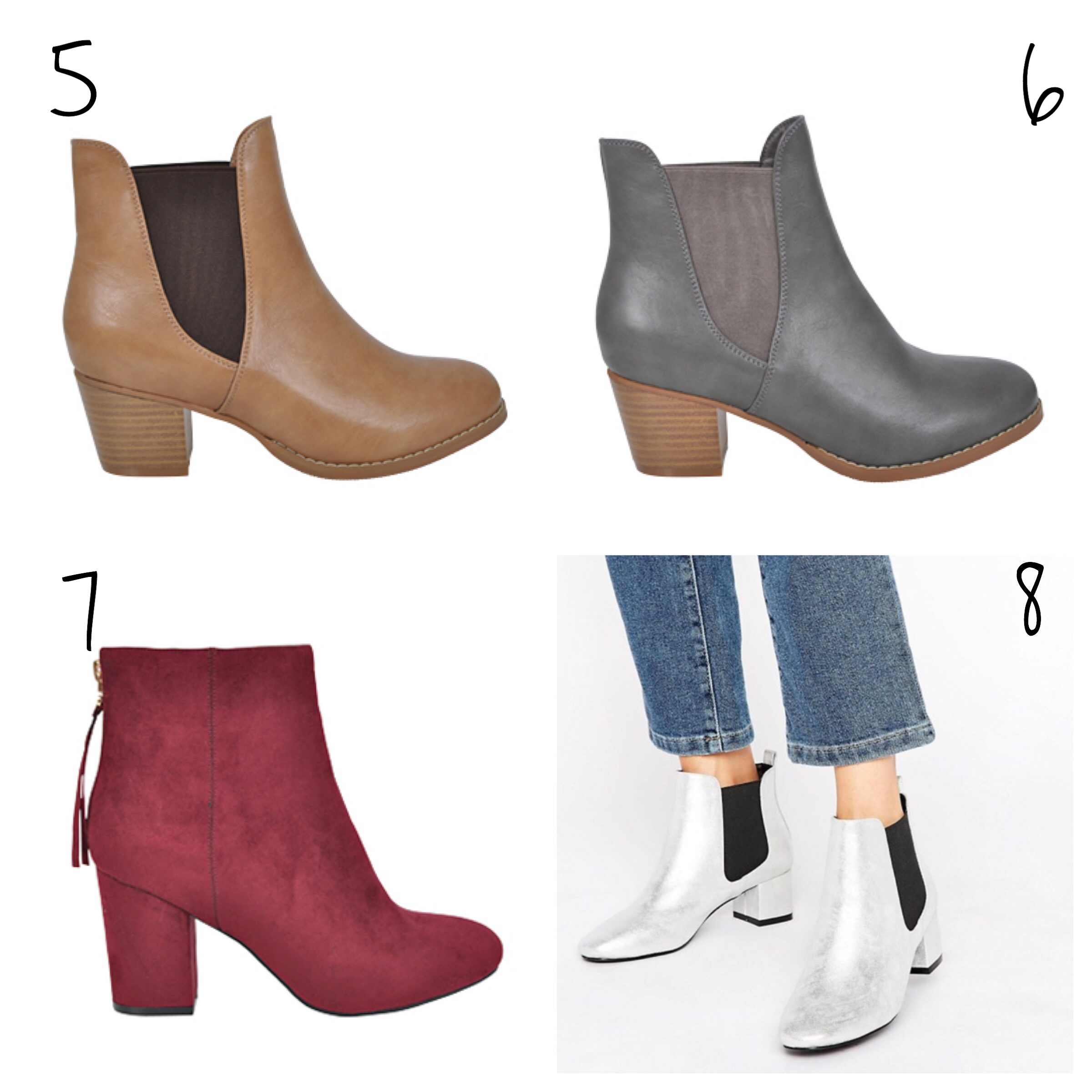 ankle boots metallics