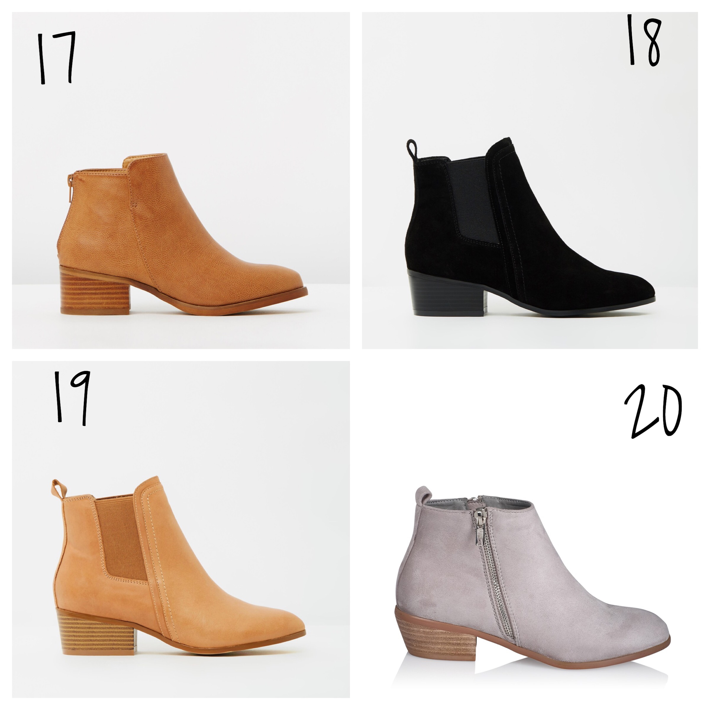 tan ankle boots under 100