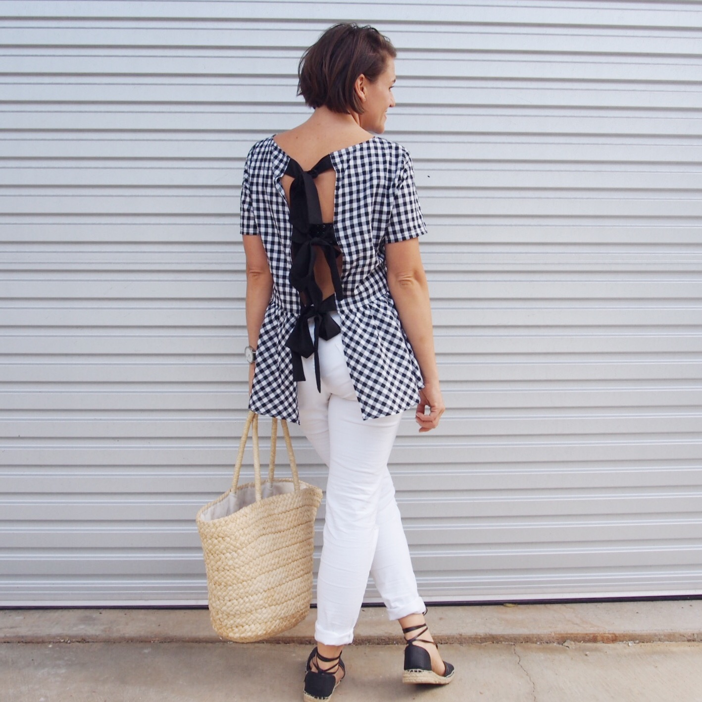 gingham top by shein outfit idea pretty chuffed