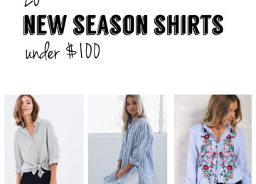 new season button up shirts