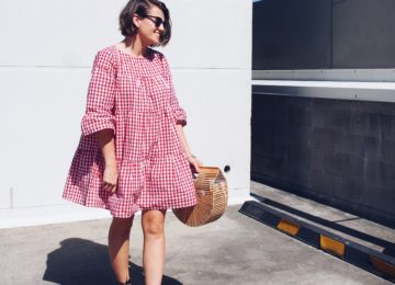how to wear a gingham dress for spring