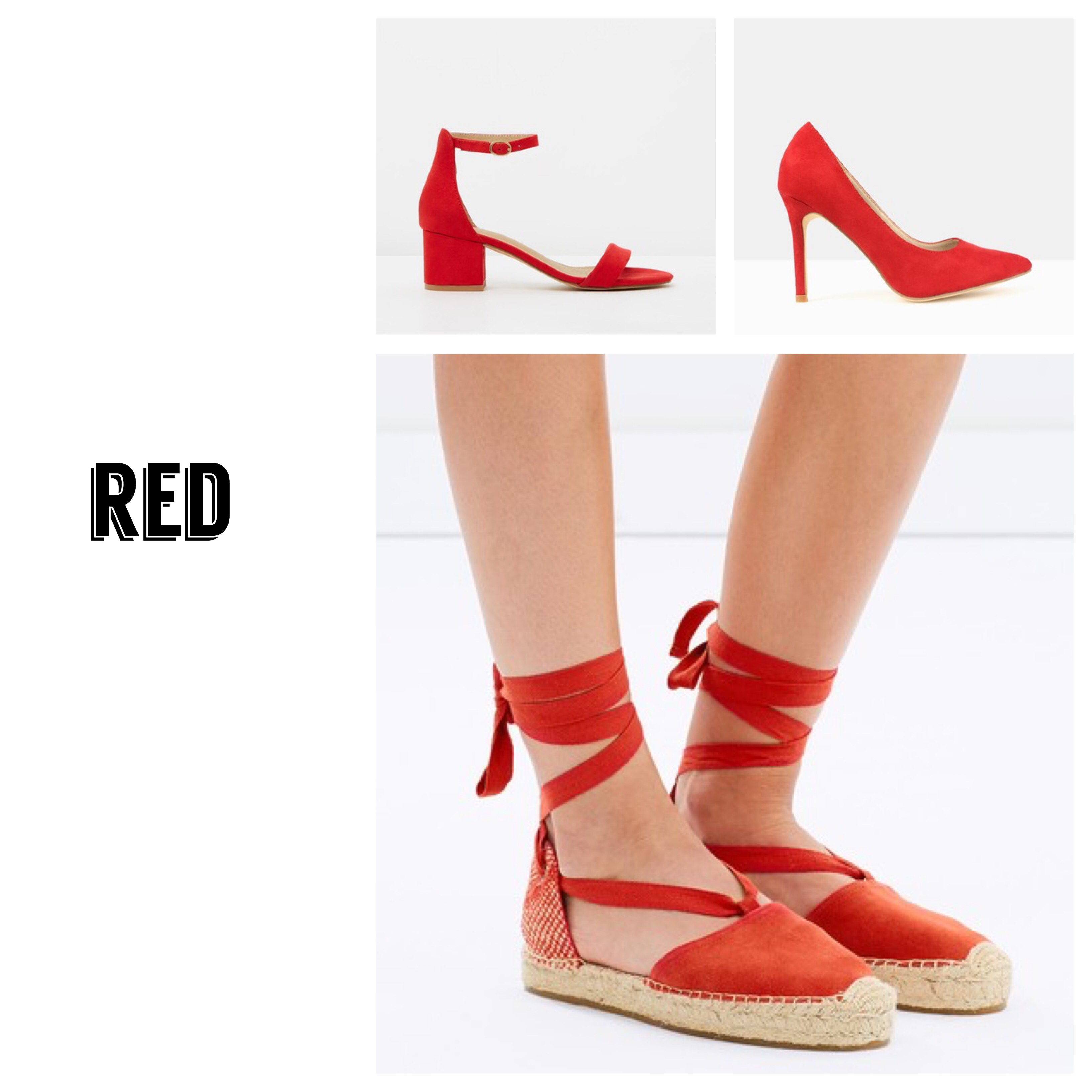 new season red shoes