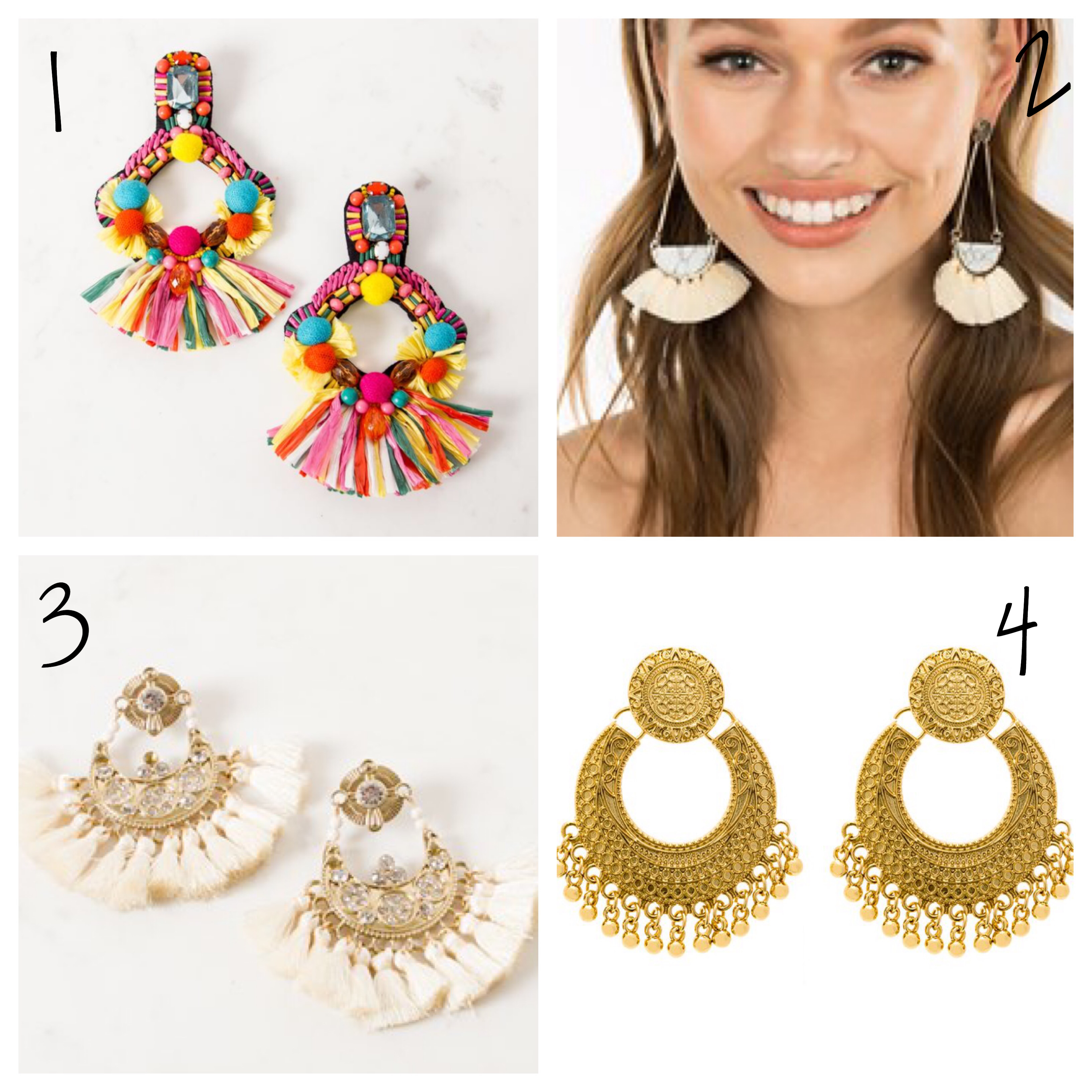 Statement earrings under $50 available online