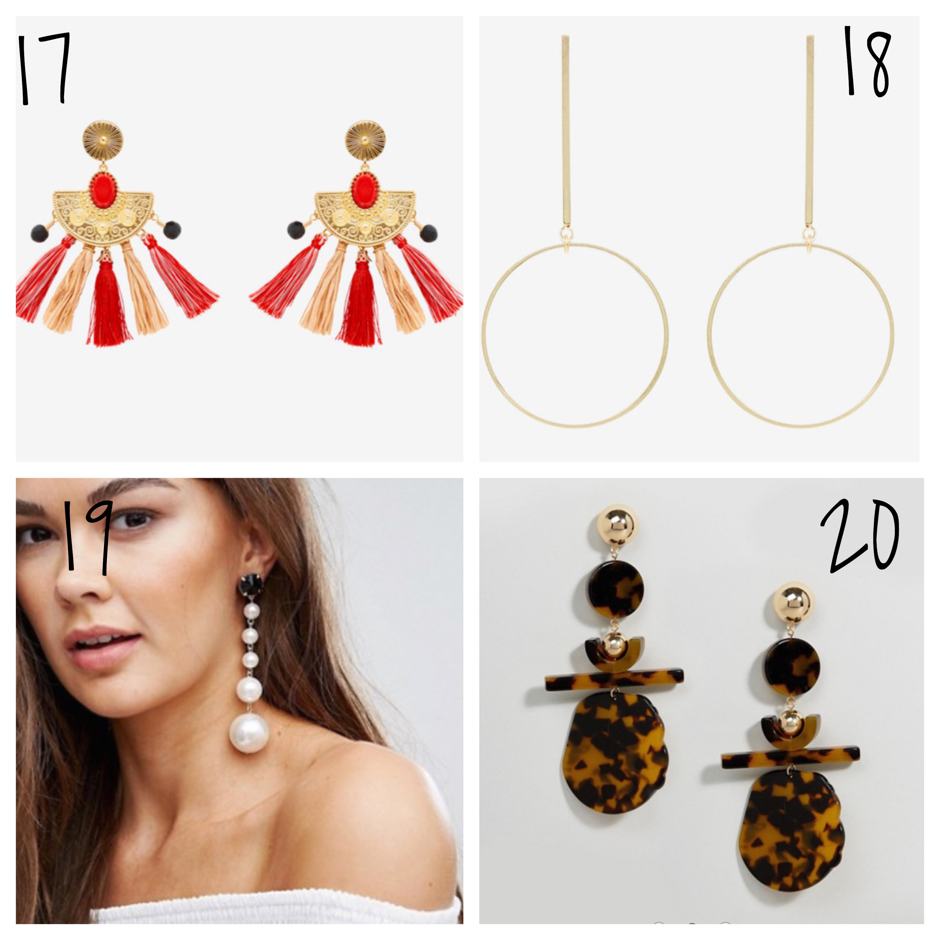Pom pom earrings and affordable pearl earrings