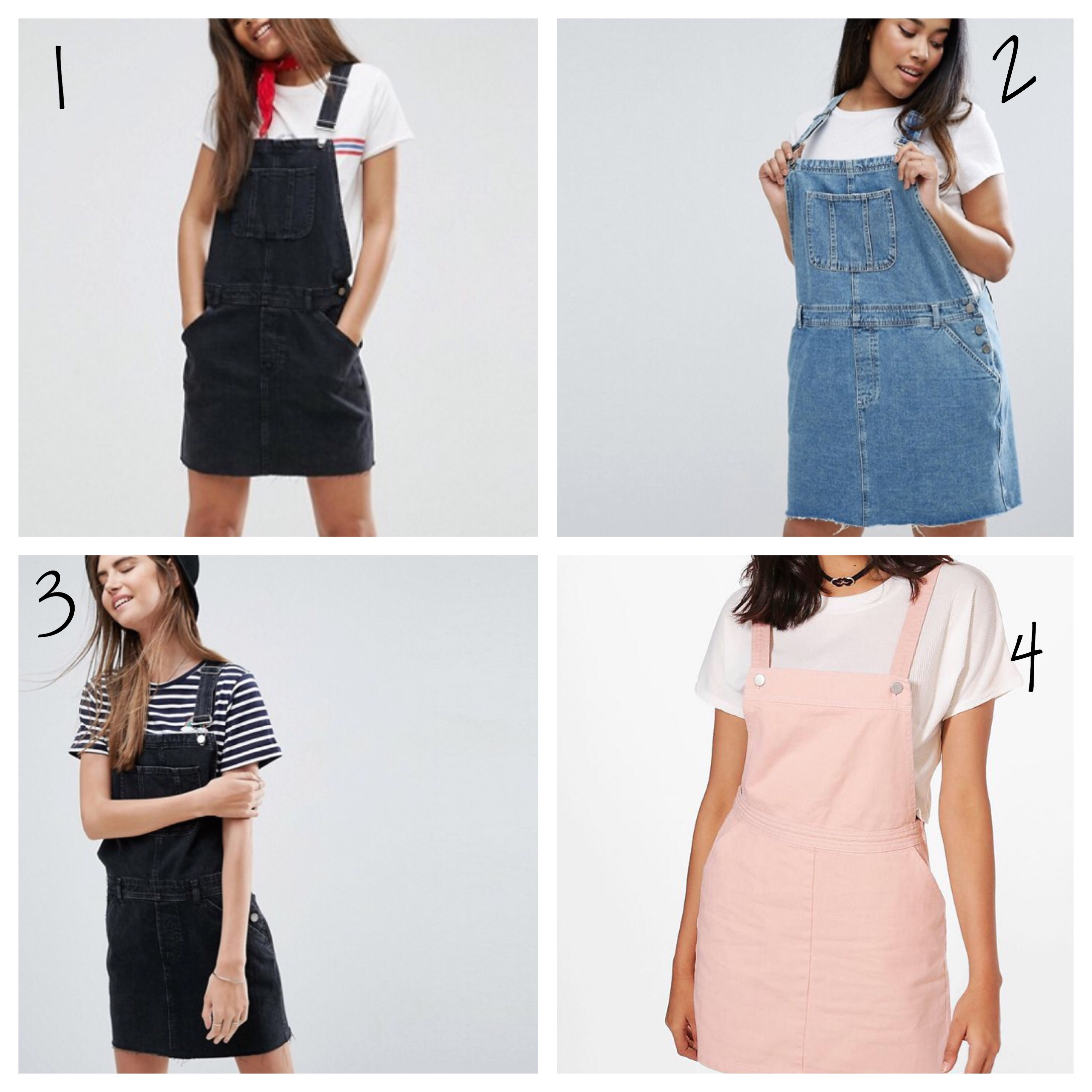 pinafores and overalls